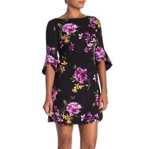 Vince Camuto floral 3/4 sleeve sheath dress BNWT